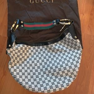 Gucci Canvas Vintage Bamboo Hobo Bag